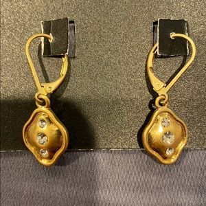 Gold rhodium plated earrings